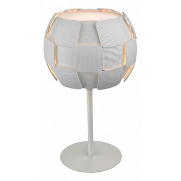 Настольная лампа Divinare Beata 1317/01 TL-1, 1xE27x26W, белый, металл, пластик