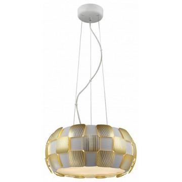 Подвесной светильник Divinare Beata 1317/13 SP-5, 5xE27x24W, белый, матовое золото, металл, пластик - миниатюра 1