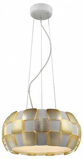 Подвесной светильник Divinare Beata 1317/13 SP-5, 5xE27x24W, белый, матовое золото, металл, пластик - фото 1