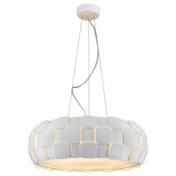 Подвесной светильник Divinare Beata 1317/21 SP-8, 8xE27x24W, белый, металл, пластик