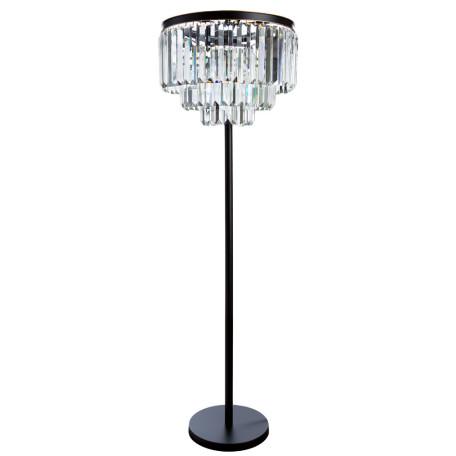 Торшер Divinare Nova 3001/01 PN-6, 6xE14x40W, черный, прозрачный, металл, хрусталь