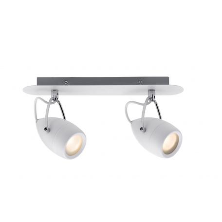 Потолочный светильник с регулировкой направления света Paulmann Drop 60340, IP44, 2xGU10x3,5W, металл