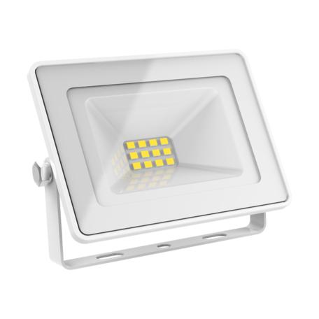 Светодиодный прожектор Gauss 613120310, IP65, LED 10W 6500K 700lm, белый, металл, металл со стеклом