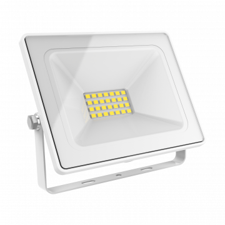Светодиодный прожектор Gauss 613120330, IP65, LED 30W 6500K 2100lm, белый, металл, металл со стеклом