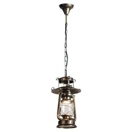 Подвесной светильник Lussole Loft Anchorage LSP-9518, IP21, 1xE27x60W, бронза, прозрачный, металл, металл со стеклом - миниатюра 1