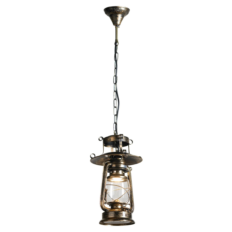 Подвесной светильник Lussole Loft Anchorage LSP-9518, IP21, 1xE27x60W, бронза, прозрачный, металл, металл со стеклом - фото 1