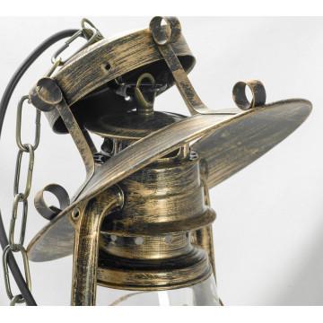 Подвесной светильник Lussole Loft Anchorage LSP-9518, IP21, 1xE27x60W, бронза, прозрачный, металл, металл со стеклом - миниатюра 6