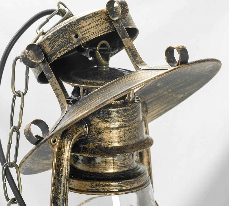 Подвесной светильник Lussole Loft Anchorage LSP-9518, IP21, 1xE27x60W, бронза, прозрачный, металл, металл со стеклом - фото 6