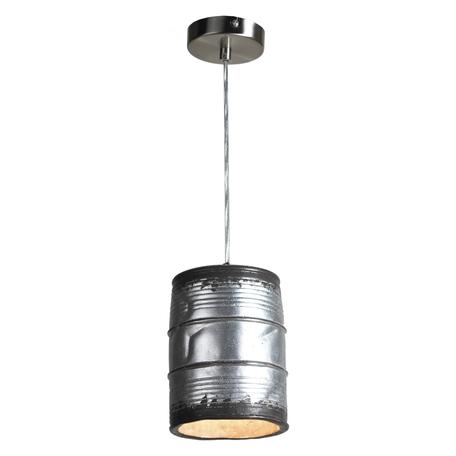 Подвесной светильник Lussole Loft Northport LSP-9526, IP21, 1xE27x40W, никель, серый, металл, керамика