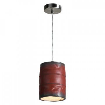 Подвесной светильник Lussole Loft Northport LSP-9527, IP21, 1xE27x40W, никель, красный, металл, керамика