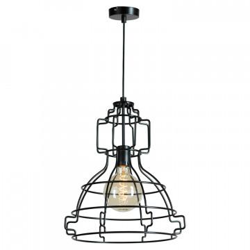 Подвесной светильник Lussole Loft Madison LSP-9528, IP21, 1xE27x60W, черный, металл