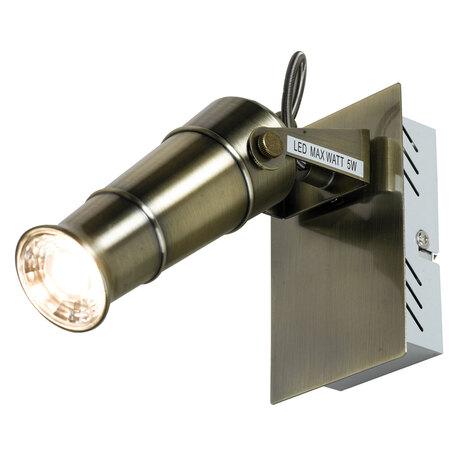 Настенный светодиодный светильник с регулировкой направления света Lussole Loft Tuscaloosa LSP-9509, IP21, LED 5W 4080K, бронза, металл