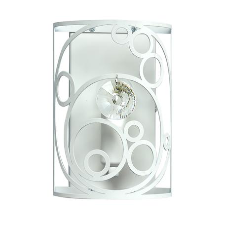 Настенный светильник MW-Light Замок 249029101, 1xE14x60W, белый, металл, металл со стеклом/хрусталем