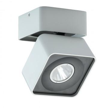 Потолочный светодиодный светильник с регулировкой направления света De Markt Круз 637016901, LED 33W 3000K, белый, черно-белый, металл