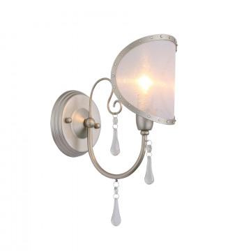 Бра ST Luce Faccialuna SL173.301.01, 1xE14x40W, бронза, серебро, прозрачный, металл, пластик, хрусталь