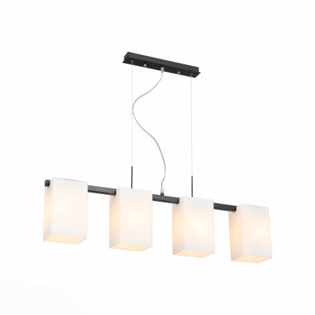 Подвесной светильник ST Luce Caset SL541.403.04, 4xE27x40W, черный, белый, металл, стекло