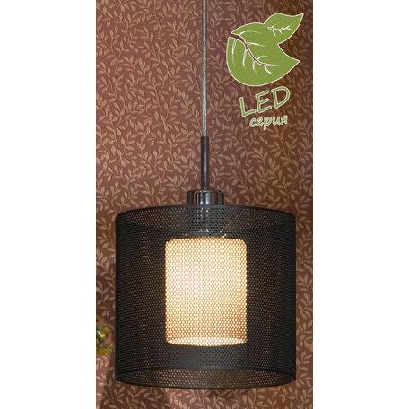 Подвесной светильник Lussole Rovella GRLSF-1906-01, IP21, 1xE27x10W, хром, черный, черно-белый, металл, металл со стеклом