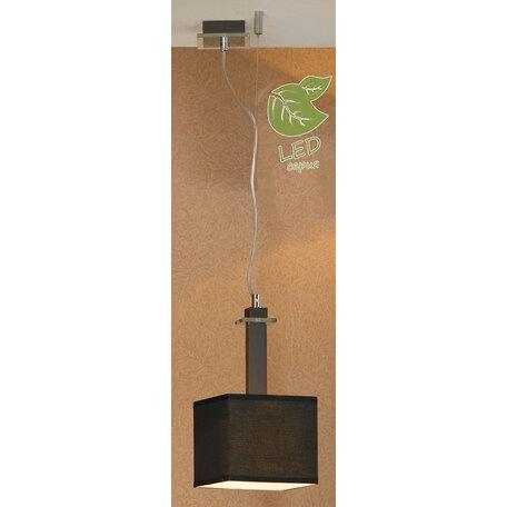 Подвесной светильник Lussole Montone GRLSF-2586-01, IP21, 1xE27x10W, венге, черный, металл со стеклом, дерево, текстиль