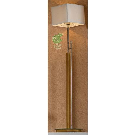Торшер Lussole Montone GRLSF-2505-01, IP21, 1xE27x10W, коричневый, белый, металл со стеклом, дерево, текстиль