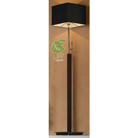 Торшер Lussole Montone GRLSF-2575-01, IP21, 1xE27x10W, венге, черный, металл со стеклом, дерево, текстиль