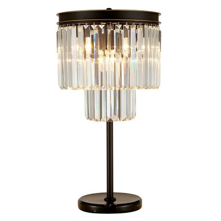 Настольная лампа Citilux Мартин CL332861, 6xE14x60W, венге, прозрачный, металл, хрусталь