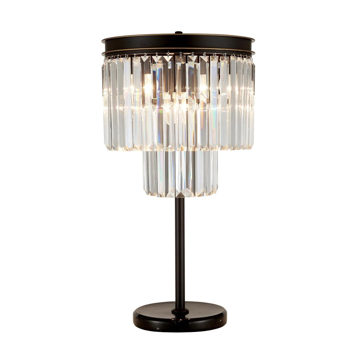 Настольная лампа Citilux Мартин CL332861, 6xE14x60W, венге, прозрачный, металл, хрусталь - фото 1