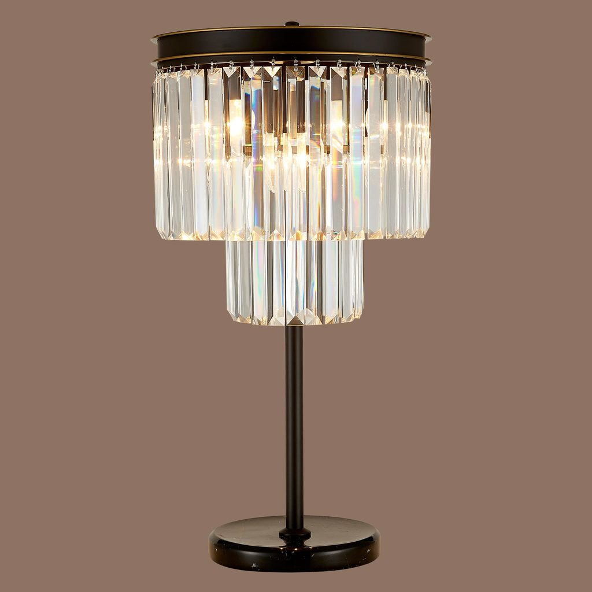 Настольная лампа Citilux Мартин CL332861, 6xE14x60W, венге, прозрачный, металл, хрусталь - фото 3