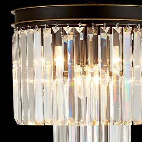 Настольная лампа Citilux Мартин CL332861, 6xE14x60W, венге, прозрачный, металл, хрусталь - миниатюра 4