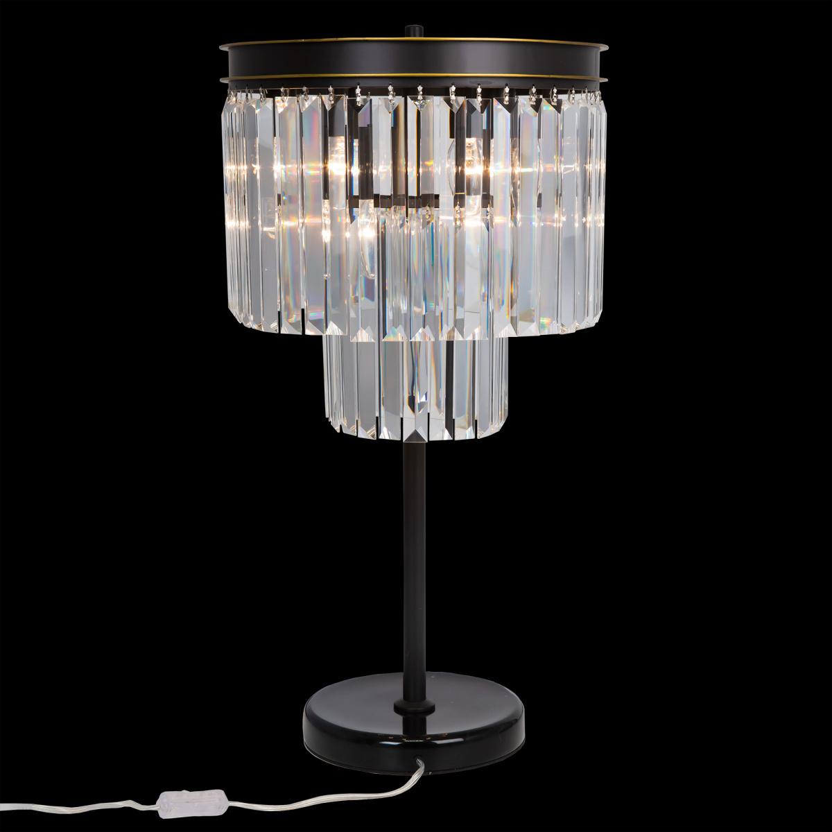 Настольная лампа Citilux Мартин CL332861, 6xE14x60W, венге, прозрачный, металл, хрусталь - фото 4