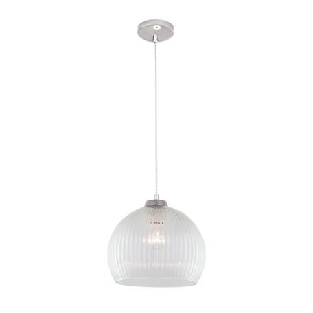Подвесной светильник Citilux Меридиан CL946250, 1xE27x75W, хром, белый, металл, стекло