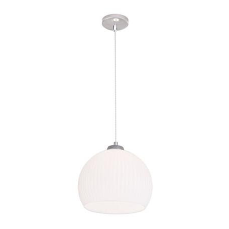Подвесной светильник Citilux Меридиан CL946251, 1xE27x75W, хром, белый, металл, стекло