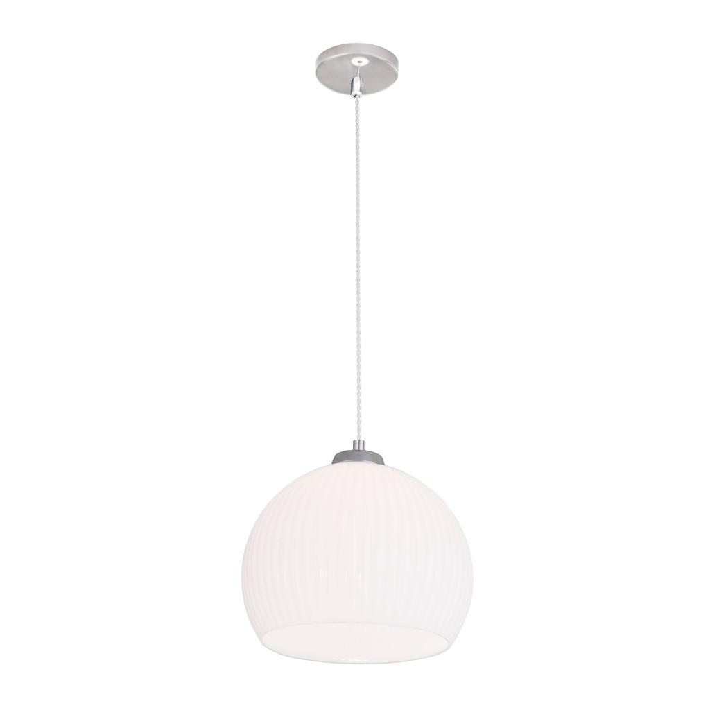 Подвесной светильник Citilux Меридиан CL946251, 1xE27x75W, хром, белый, металл, стекло - фото 1