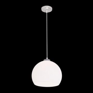 Подвесной светильник Citilux Меридиан CL946251, 1xE27x75W, хром, белый, металл, стекло - миниатюра 2
