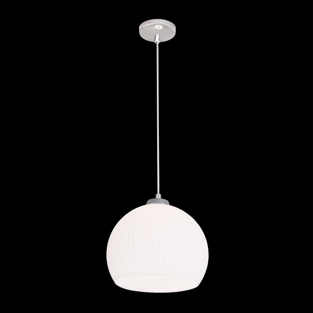 Подвесной светильник Citilux Меридиан CL946251, 1xE27x75W, хром, белый, металл, стекло - фото 2