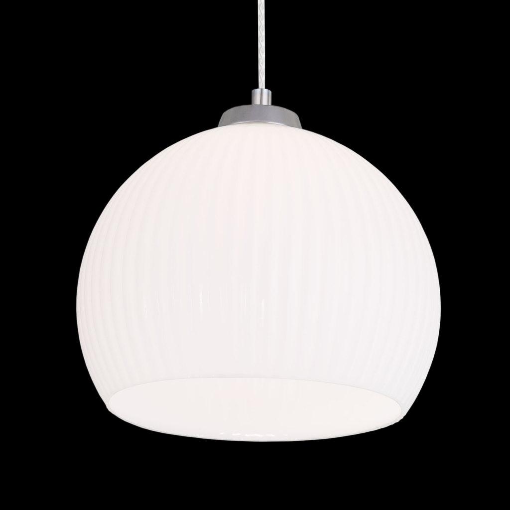 Подвесной светильник Citilux Меридиан CL946251, 1xE27x75W, хром, белый, металл, стекло - фото 3