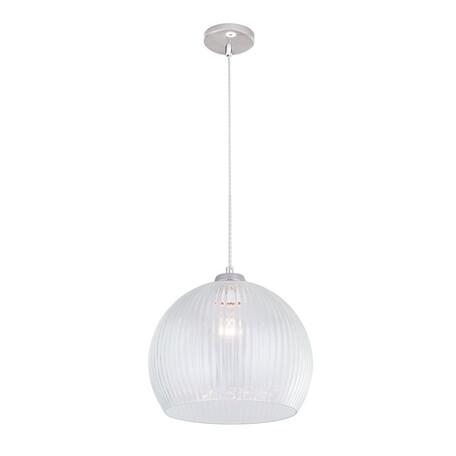 Подвесной светильник Citilux Меридиан CL946300, 1xE27x75W, хром, белый, металл, стекло