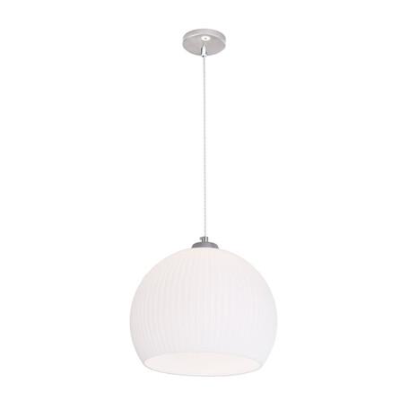 Подвесной светильник Citilux Меридиан CL946301, 1xE27x75W, хром, белый, металл, стекло