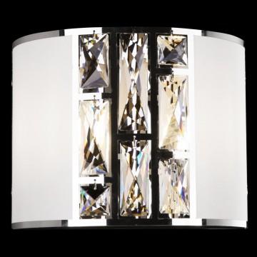 Настенный светильник Maytoni Mercurio MOD028WL-02CH, 2xE14x60W, хром, белый, прозрачный, металл, текстиль, стекло