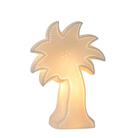 Настольная лампа-ночник Lucide Palm 13523/01/31, 1xE14x25W, белый, керамика