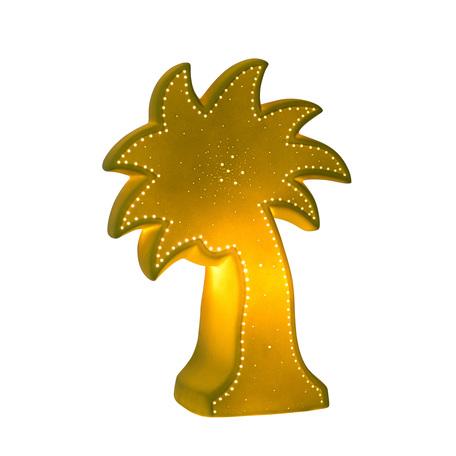 Настольная лампа-ночник Lucide Palm 13523/01/33, 1xE14x25W, зеленый, керамика