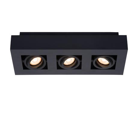 Потолочный светильник Lucide Xirax 09119/15/30, 3xGU10x5W, черный, металл