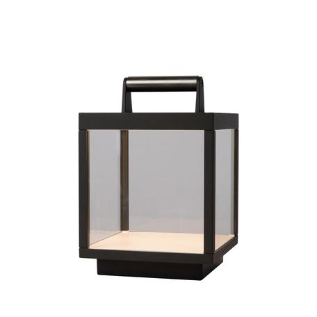 Садовый светодиодный светильник Lucide Clairette 28862/06/30, IP54, LED 5W, 3000K (теплый), черный, прозрачный, металл, стекло, пластик