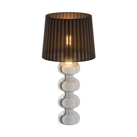 Настольная лампа Zumaline Deco TS-060216T, 1xE27x60W, хром, черный, металл, текстиль