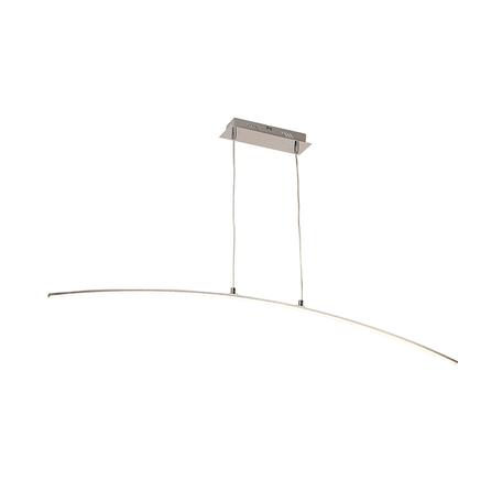 Подвесной светодиодный светильник Zumaline Pista L99832-1, LED 15W 3000K 800lm, хром, металл, металл с пластиком