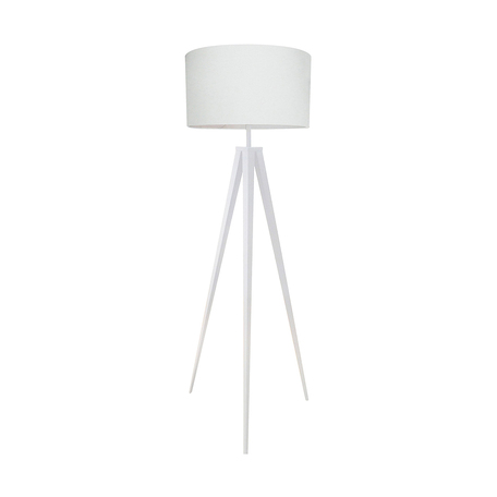 Торшер Zumaline Maresca TS-170429F-WH, 1xE27x60W, белый, металл, текстиль