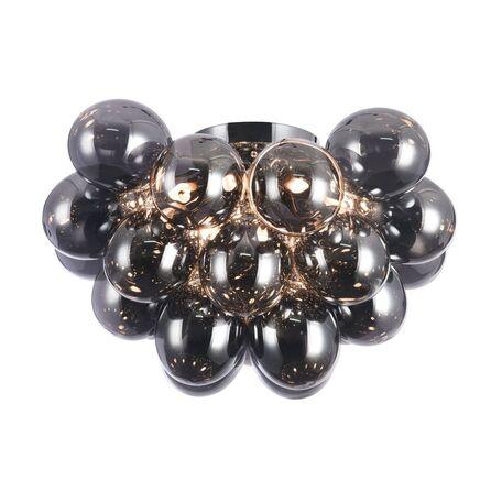 Потолочная люстра Maytoni Balbo MOD112CL-08N, 8xG9x28W, никель, дымчатый, металл, стекло