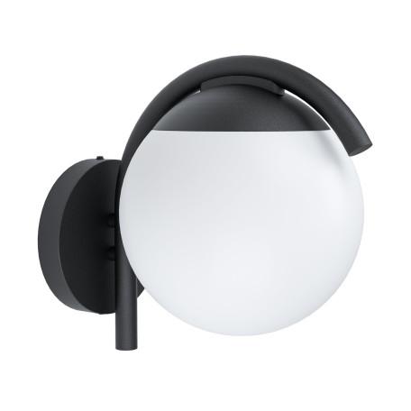 Настенный светильник Eglo Prata Vecchia 98731, IP44, 1xE27x28W, черный, белый, металл, пластик