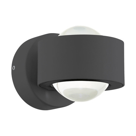 Настенный светодиодный светильник Eglo Treviolo 98746, IP44, LED 4W 3000K 460lm, серый, металл, металл со стеклом