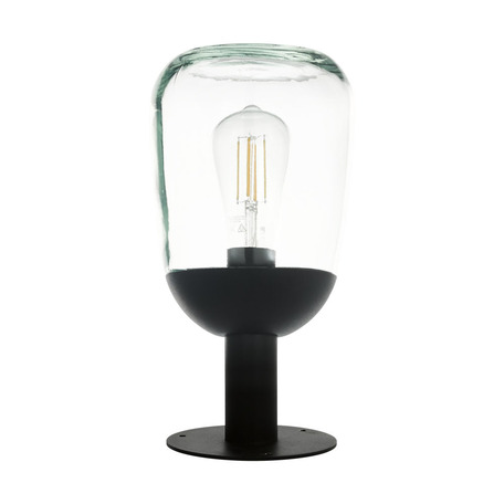 Садово-парковый светильник Eglo Donatori 98702, IP44, 1xE27x60W, черный, прозрачный, металл, стекло