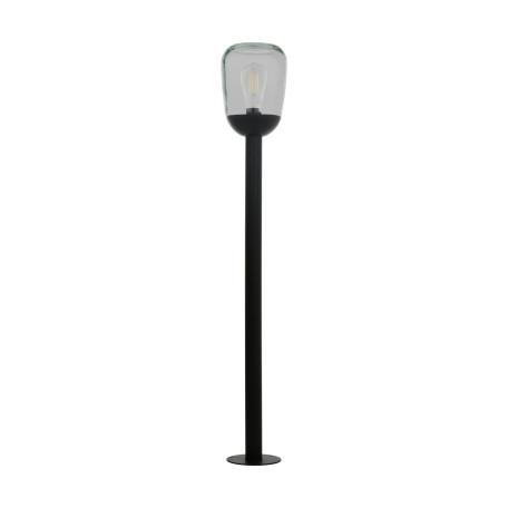 Садово-парковый светильник Eglo Donatori 98703, IP44, 1xE27x60W, черный, прозрачный, металл, стекло